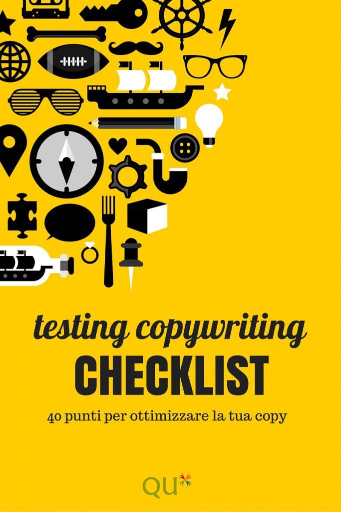 impara a testare il copywriting per ottenere engagement con una Checklist specifica
