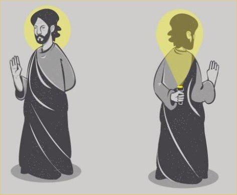 l'aureola dei dipinti medievali faceva subito pensare a persone buone