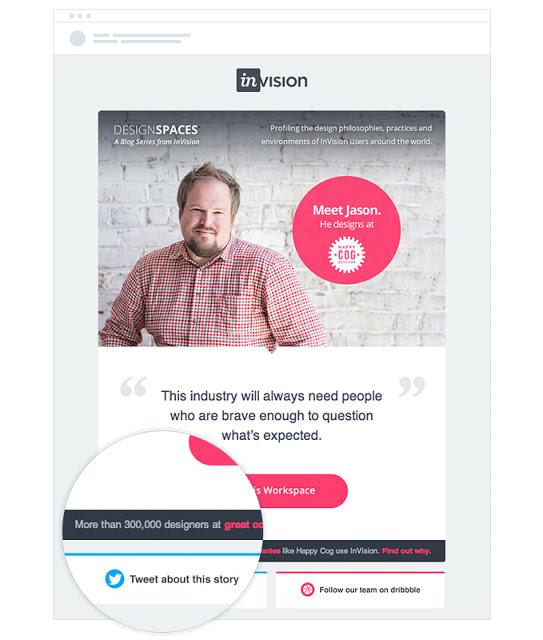 Invision App ha scritto di avere oltre 300 mila utenti. Photo credits to Campaign Monitor