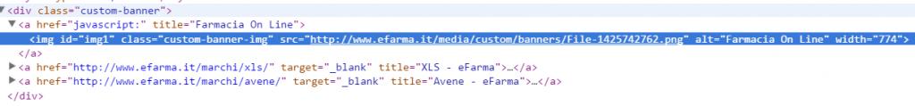 valutazione usabilità: nessun tag alt che descriva il contenuto dell'immagine