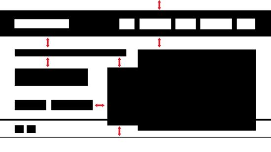 La redistribuzione finale degli spazi con l'equispaziatura di tutti i margini