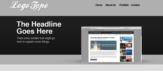 La pagina web iniziale, prima dell'ottimizzazione degli spazi