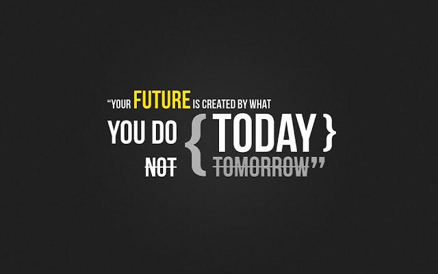 il futuro è oggi, citazione