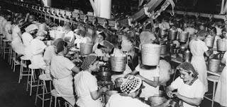 hawthorne, foto storica dei lavoratori della fabbrica
