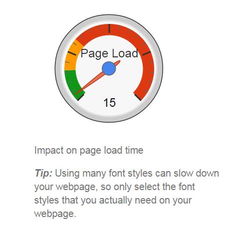 alcuni font sono leggibili ma appesantiscono la pagina in termini di tempi caricamento