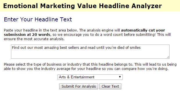 headline analyzer, tool per misurare l'efficacia di un titolo