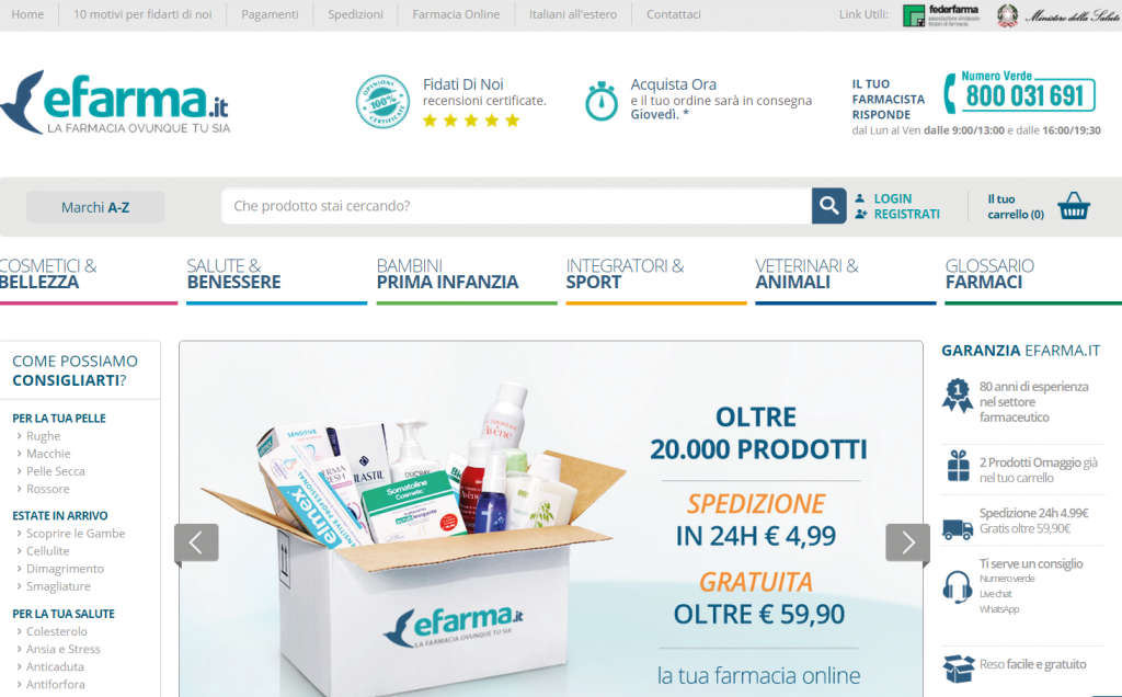 valutare l'usabilità di un ecommerce farmaceutico