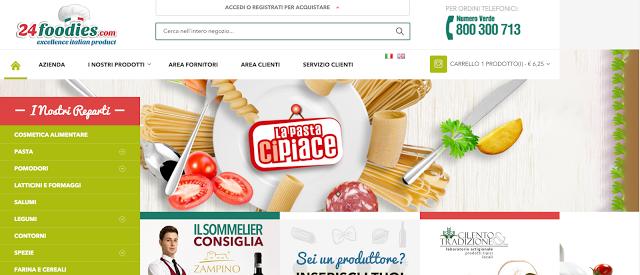 valutare l'usabilità di un sito del settore food