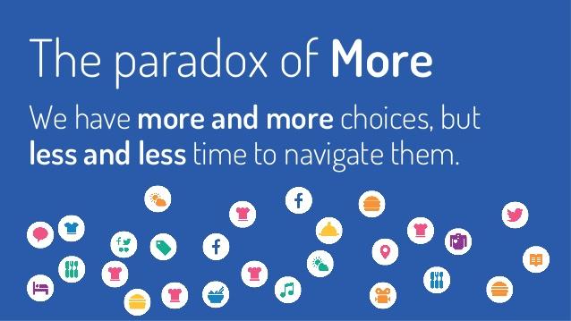 abbiamo molte opzioni e pochissimo tempo, il paradosso del more